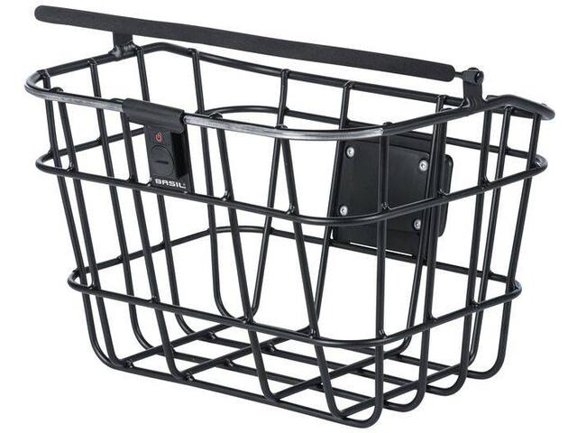 Basil Bremen Alu Bike Basket Including BasEasy/Klickfix adapter plate and Northern Light black